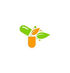 Nature medicine logo icon design vector