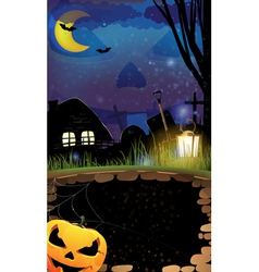 Night Halloween background vector