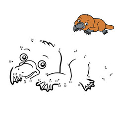 numbers game platypus vector image