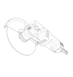 Outline electric angle grinder vector