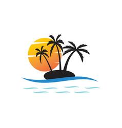 Palm tree summe vector