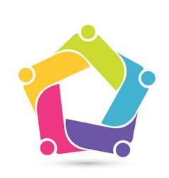 Penta team group people logo vector