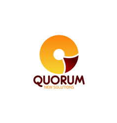 quorum icon for business meating theme design vector image