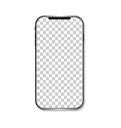 realistic modern smartphone mockup isolated vector image
