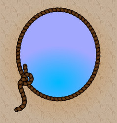 rope and frame vector image vector image