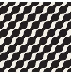 Seamless black and white diagonal wavy vector