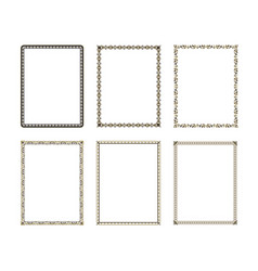Set luxury decorative frame vector