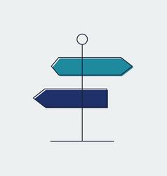 Signpost flat line icongraphic design vector