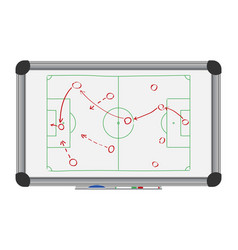 soccer tactic on board vector image