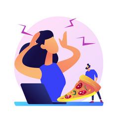 Stress eating concept metaphor vector