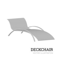sun lounger isolated on white background vector image