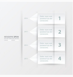 Timeline report template white color vector