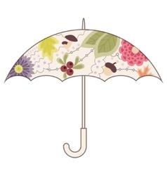 Umbrella vintage vector image vector image
