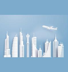 urban cityscape vector image