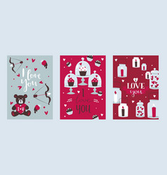 valentine day romantic card vector image