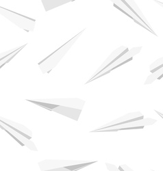 White Paper planes seamless wallpaper vector image vector image