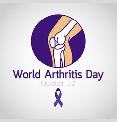world arthritis day icon vector image
