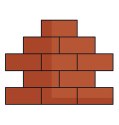 bricks wall pile icon vector image