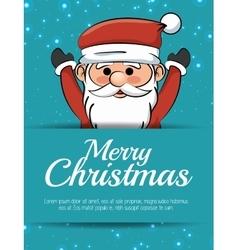 merry christmas card santa claus happy vector image vector image