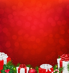 Red Wall With Fir Tree Border vector image