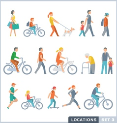 People On The Street Neighbors vector image vector image