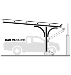 Car parking lot roofing section vector image