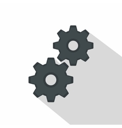 Gear icon flat style vector image vector image