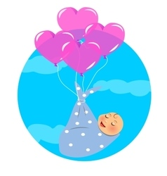 Newborn Fly with Balloon vector image vector image