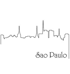 Sao paolo city one line drawing vector