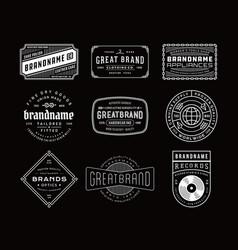 Vintage logo insignia badge set vector