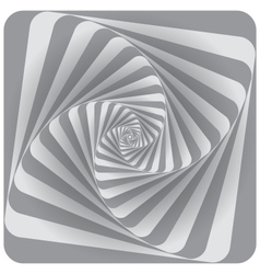 Abstract Spiral Background Gray vector image vector image