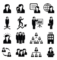 Business women icons vector