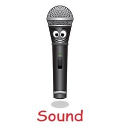 Cartoon microphone character vector image