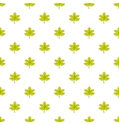 Green maple leaf pattern cartoon style vector image
