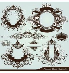 heraldry frames vector image