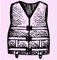 Life Jacket vector image vector image