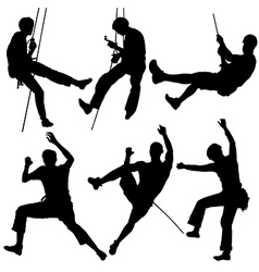 Rock Climber Silhouette vector image vector image