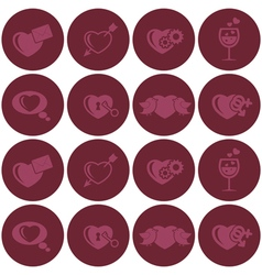 seamless background with hearts vector image