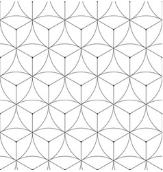 abstract geometric seamless pattern hexagonal vector image