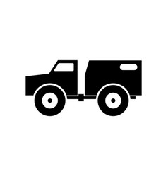 Amphibious all-terrain vehicle aatv icon vector