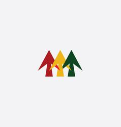 arrows icon abstract logo symbol vector image