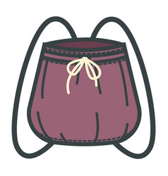 backpack or sack with thongs isolated rucksack vector image