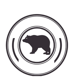 bear animal isolated icon vector image