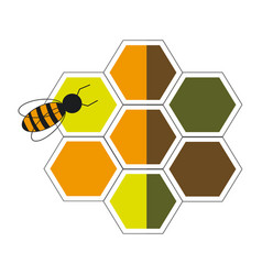 bee hive team work community concept vector image