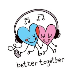 Better together vector