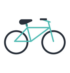 Bicycle recreation transport icon vector