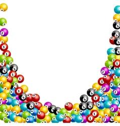 Bingo lottery balls numbers background Lottery vector image
