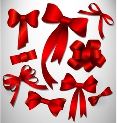 bow collection Red vector image