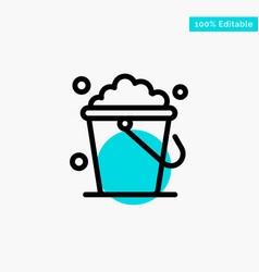 Bucket cleaning floor home turquoise highlight vector