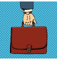 Business briefcase suitcase vector image